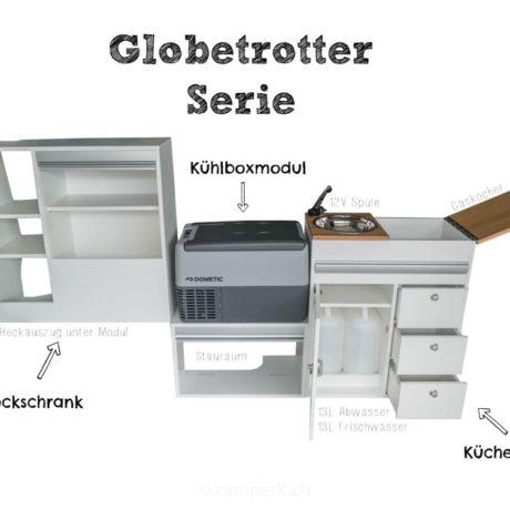 Globetrotter Innenausbau fuer VW California Beach T6 T5